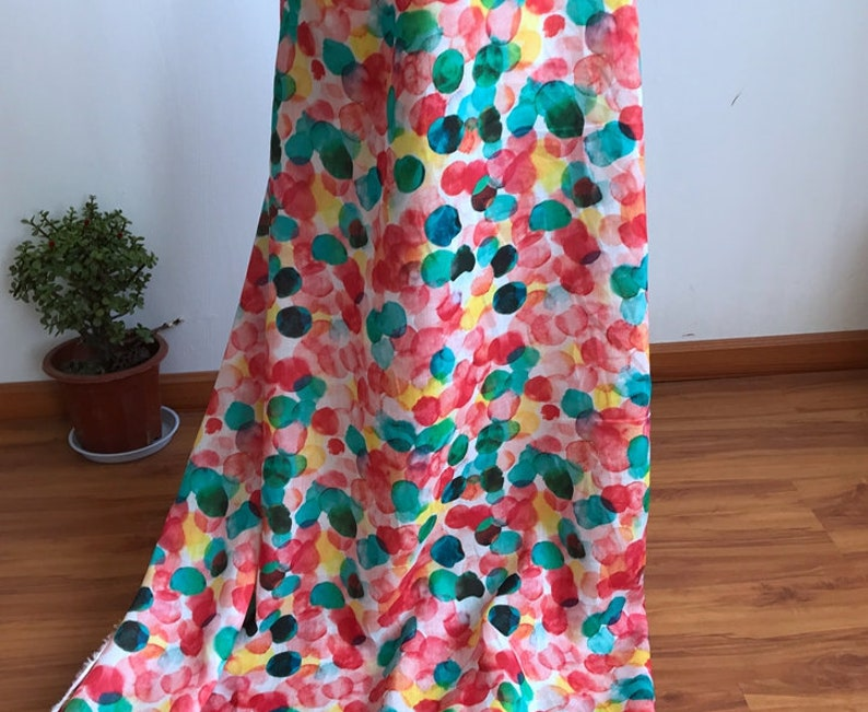 Print ramie fabric by the yard