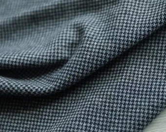 Houndstooth Knit wool fabric by the yard