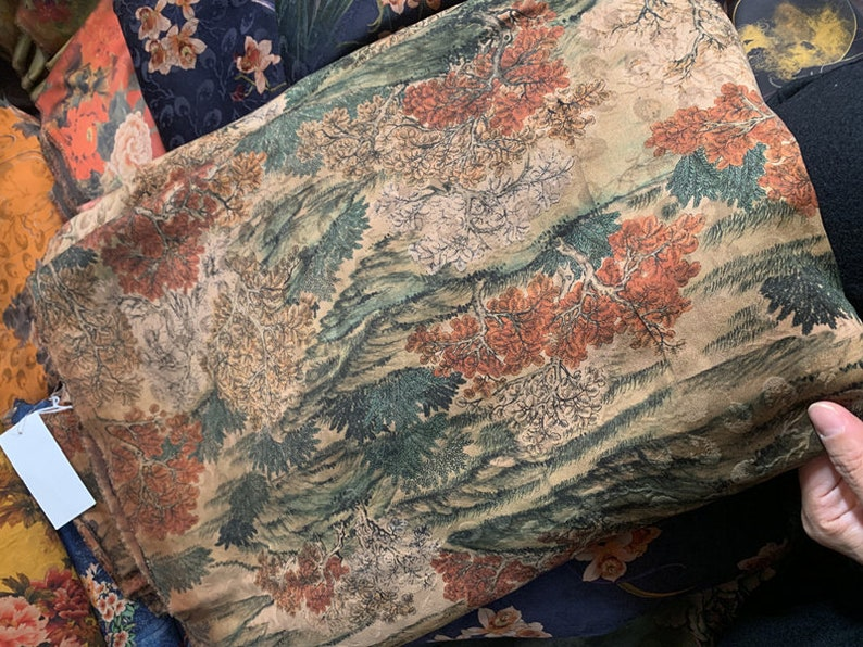 Multi color options Print heavy weight 40mm Silk charmeuse satin fabric by the yard