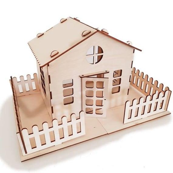 Dollhouse 3d Puzzle Wood Toys Assembly Kit Wooden Dollhouse Kit House Model Diy Eco Friendly Toys