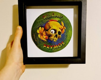 90/'s Pogs /& Slammers Skull 8 Ball Game Mat Framed Vintage Home Decoration Creative Retro Gaming Original Gift for Her Gift for Him