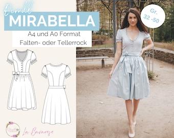 Dirndl dress Mirabella, PDF sewing pattern size 32 to 50