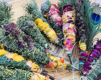 Bâton de Fumigation, Magic Smudges, Organic herbs , Energy Cleansing, Smudge Purification Stick, Smudge Stick, Holistic Healing Smudge