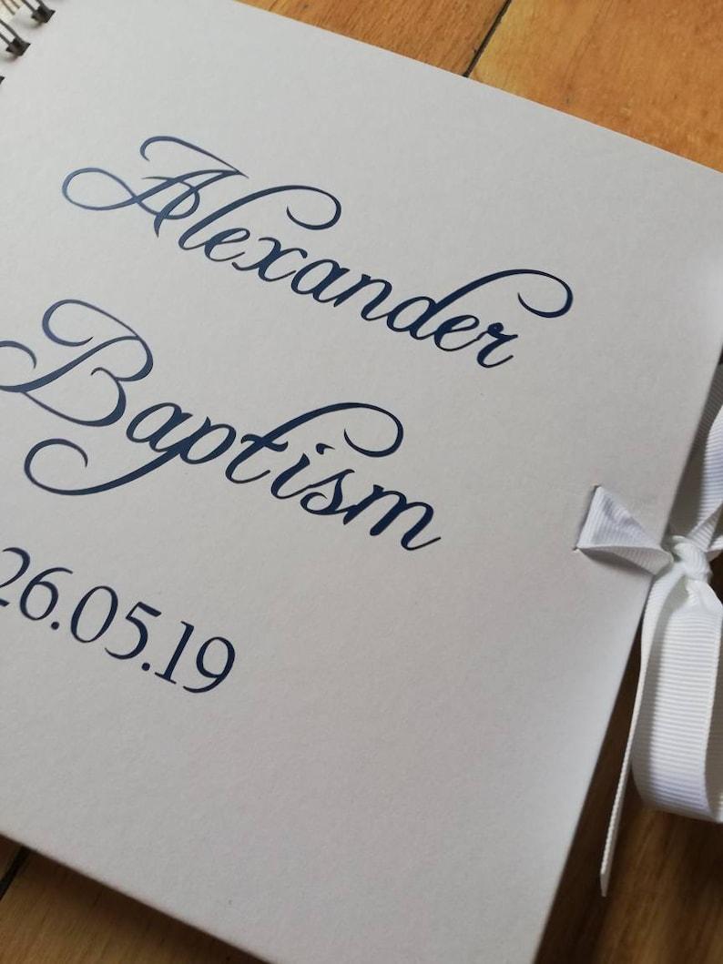 Baptism book Baby Shower Birthday custom /& personalized wedding anniversary Christening
