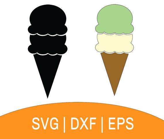 Ice Cream Cut File Ice Cream Silhouette Ice Cream SVG SVG Cut Files Instant Download Ice Cream Bundle SVG Ice Cream Clipart