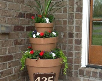 Address flower pot planter