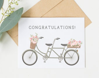 Congratulations Bicycle Card