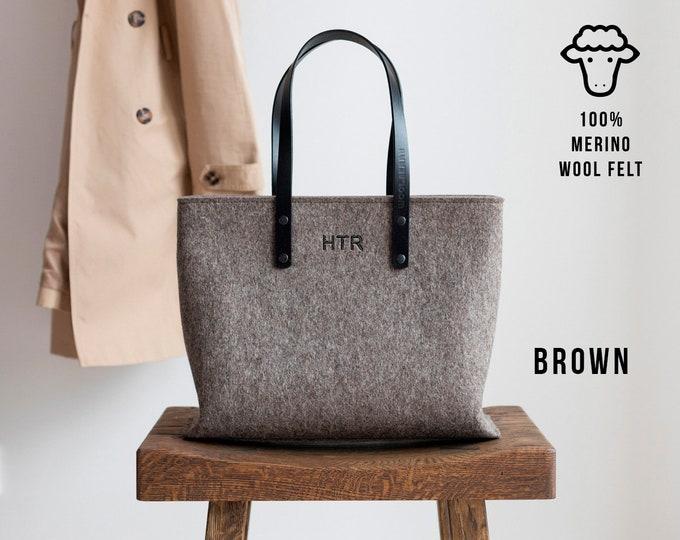 summer handbag gift idea felt wool bag Felt handbag wool linen bag large size bag yellow color combinations