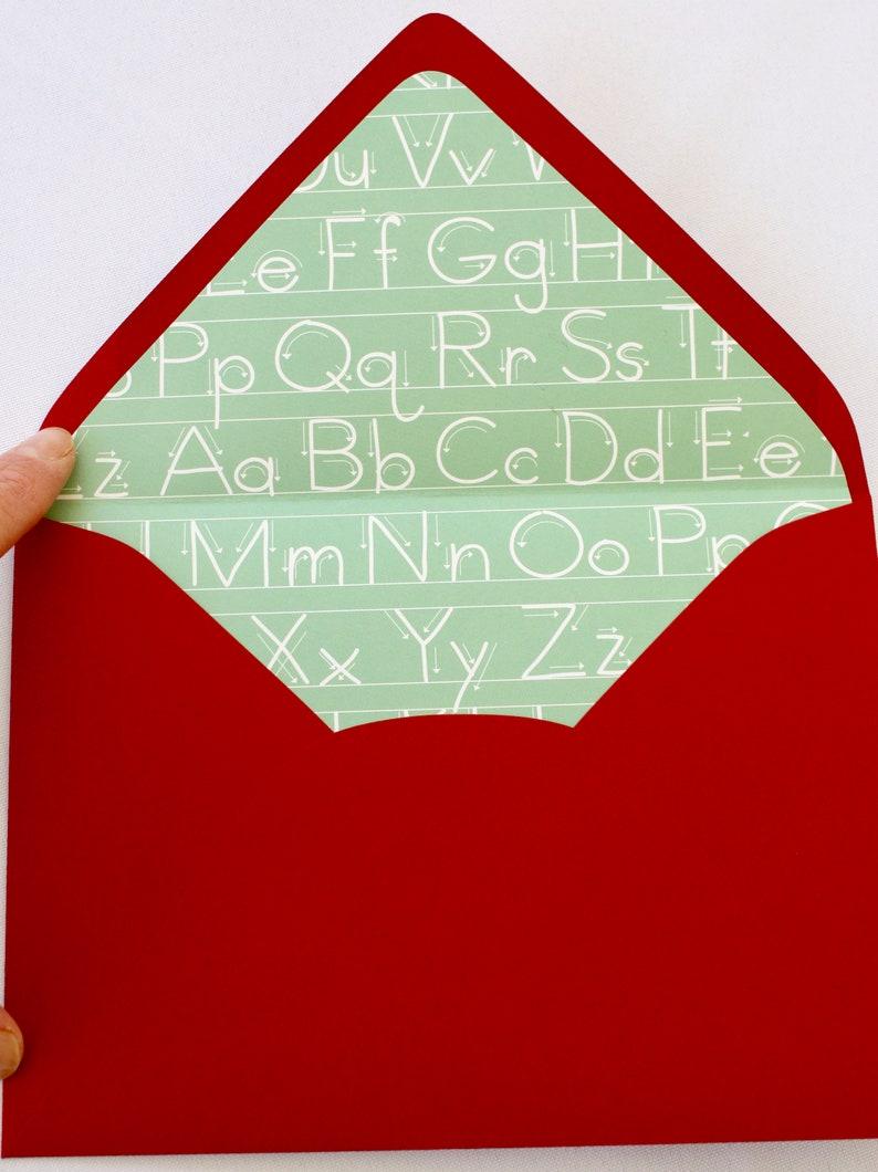 Teacher Appreciation Greeting CardTeach Love InspireBlank Greeting CardBlank Note CardBack To SchoolApple Teacher CardPenmanship