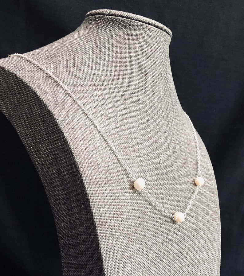 Freshwater Pearl /& Sterling Silver Necklace
