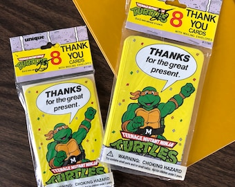 Vintage Teenage mutant ninja turtles THANK YOU cards