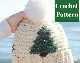 Crochet Winter Hat Pattern, Crochet Beanie, Crochet Hat Pattern, Women's Crochet Hat, Crochet Pattern, Easy Crochet Pattern,Tapestry Crochet