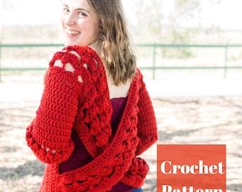 Crochet Cardigan Pattern, Easy Crochet Pattern, Beginner Crochet, Crochet Cardigan, Crochet Chunky Cardigan, Crochet Summer Cardigan