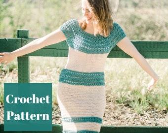 Crochet Dress Pattern, Women Crochet Dress, Summer Dress Pattern, Crochet Dress, Crochet Dress PDF, Crochet Boho Dress