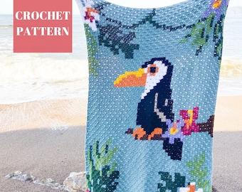 Toucan C2C Blanket, C2C Crochet Blanket Pattern, Crochet Blanket Pattern, Animal Blanket, Crochet Animal Blanket, C2C Crochet Pattern