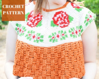 Rose Crochet Top, Tapestry Crochet Top Pattern, Tapestry Crochet, Crochet Top Pattern