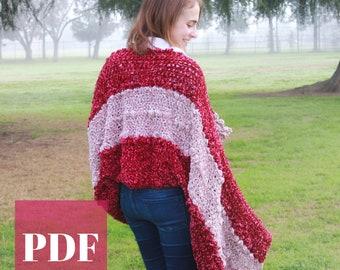 Crochet Blanket Wrap PDF Crochet Pattern - Felicity Velvet Bobble Wrap