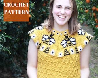 Crochet Top Pattern, Tapestry Crochet Pattern, Crochet Summer Top, Crochet Top Pattern for Women, Crochet Shirt Pattern, Crochet Bee