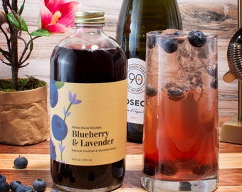 Blueberry and Lavender Drink & Cocktail Mix, 16 fl oz