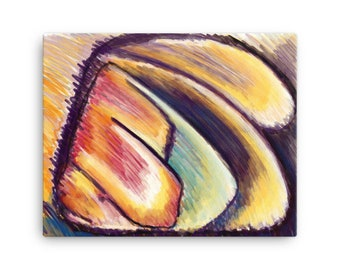 Abstract Study in Color and Shape Printed on Canvas by Elisabeth Maddix