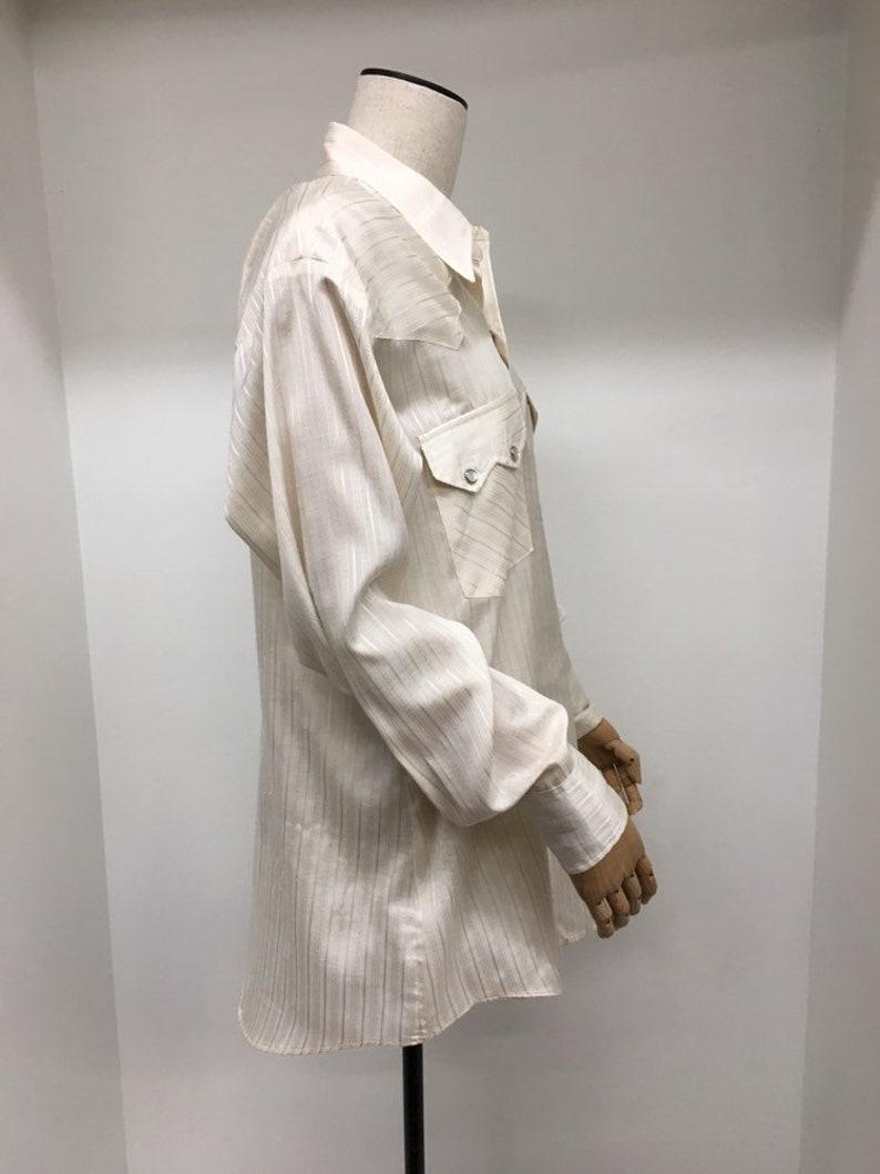 Mens Dee Cee Stripe Western Wear Shirt Size 15 12 32 Pearlized Buttons Western Wear Shirt