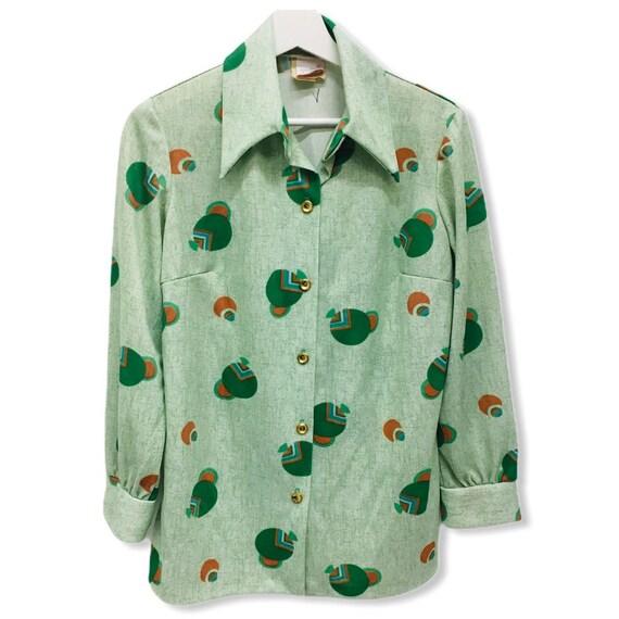 Vintage Groovy Polyester Shirt - Aldens Fasions Al