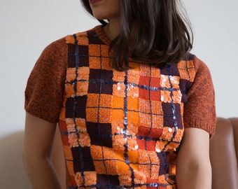 Wool top with beads by Votre Nom