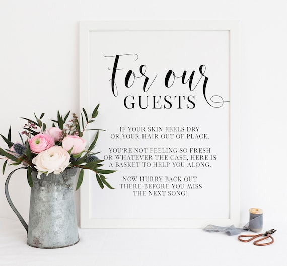 Bathroom Sign Wedding Printable Bathroom Sign Wedding Bathroom Basket Sign Wedding Sign GOLD Wedding Template DIY Wedding Sign 005G
