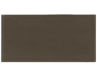 Contemporary Field Tile Brown Glossy Glass Backsplash Tile Kitchen Wall MTO0136