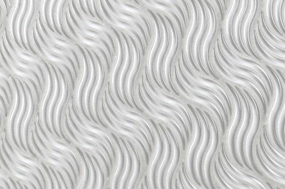 Modern 6X12 Subway Wave White Molded Glass Mosaic Tile MTO0524