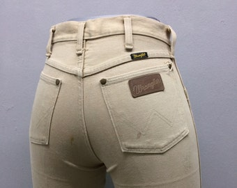 e56ca834 Sz 29 Vintage Tan Wrangler Jeans W29 L29 High Waisted 90's Beige Jeans  Boyfriends Mom Rodeo Riders Jeans Made In USA