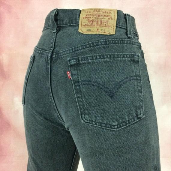 Sz 29 Vintage Levis 501 Women's Distressed Jeans W