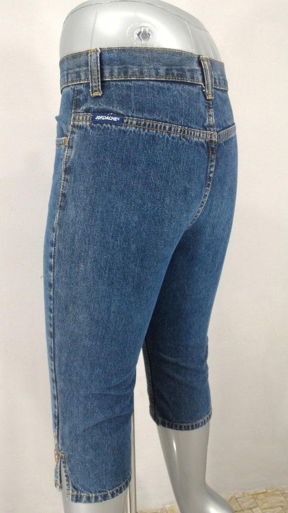 Sz 26 Jordache Women S Jeans Denim Blue 3 4 Bareback Jeans Etsy