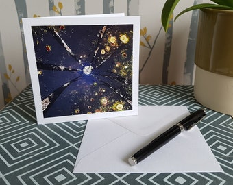 Art Card - Square Card - Greetings Card - Blank Card - Stationery Lovers Gift - Mini Art Print - ElluminationsArt