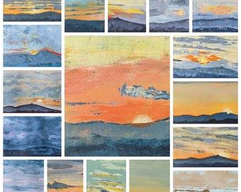 Seventeen Suns - Square Art Print (Unframed) - May Hill Sunset
