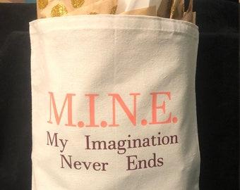 Reusable Canvas Gist Bag 'M.I.N.E. 2.0'