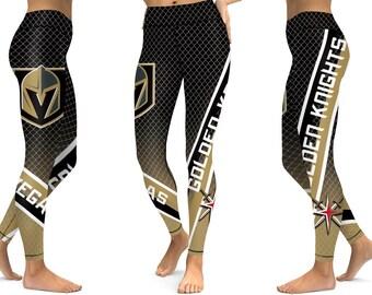 3216069e7 Vegas Golden Knights Ice Hockey Women Sports Leggings New Season Design 2