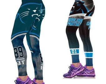 Carolina Panthers Leggings Two Packs Women Yoga Pants Football e84ee3f7f