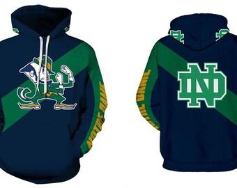 49184fc136ce Notre Dame Fighting Irish Hoodie Team Logo Football Sweater