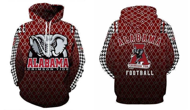 wholesale dealer dc679 e0e52 Alabama Crimson Tide Hoodie Team Logo Football Sweater