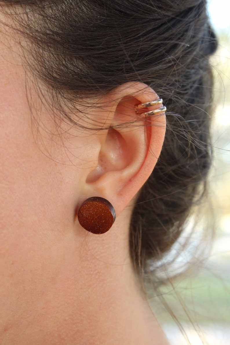 Minimalist Circle clay earrings Gift for her Earrings Studs Jewelry