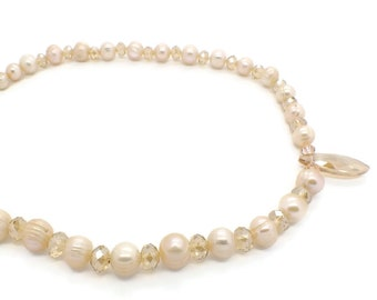 Crystal and Freshwater Pearl Necklace