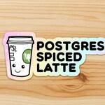 Postgres Spiced Latte Sticker - SoSplush