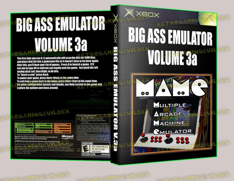 MAME for XBOX - Bootable - Plays Right From the DVD