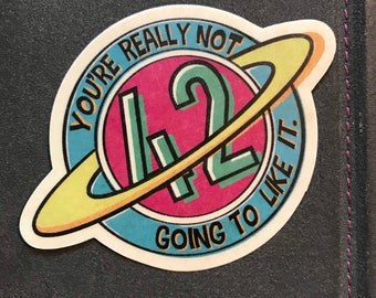 So Long, and Thanks for All the 42 Hitchhiking Restaurants in the Galaxy! Sticker