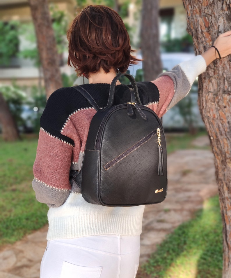 Cruelty Free Backpack Vegan Leather Backpack Gift for Her Free Shipping Water Resistant Backpack Backpack for Women Birthday Gift
