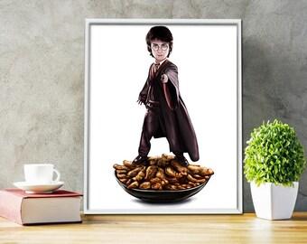 DANIEL RADCLIFFE Print - Food Poster Drawing Art - Harry Potter