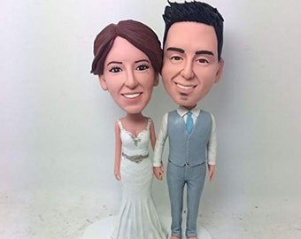 36a6988ebc6 Custom Bobblehead Couple Personalized Wedding Cake Topper Custom Bobble Head  Cake Topper Wedding Bobblehead Gift Custom Wedding Cake Topper