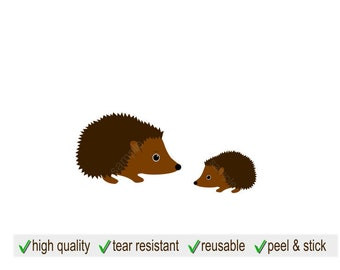 Hedgehog Decal | Hedgehog Wall Decor | Hedgehog Wall Decal | Hedgehog Sticker | Hedgehog Room Decor | Woodland Decal | Forest Animal Decal