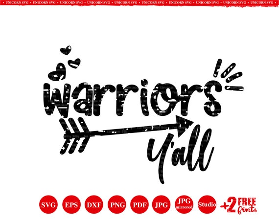 Warriors Y All Warriors Arrow Svg Distressed Svg Etsy